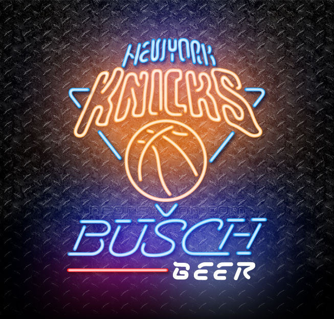Busch Beer NBA New York Knicks Neon Sign