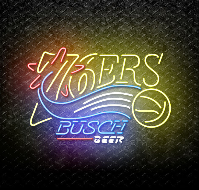 Busch Beer NBA Philadelphia 76ers Neon Sign