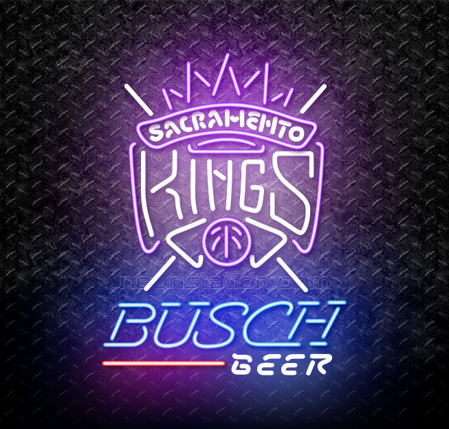 Busch Beer NBA Sacramento Kings Neon Sign