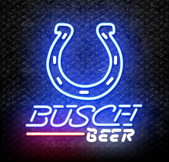 Busch Beer NFL Indianapolis Colts Neon Sign
