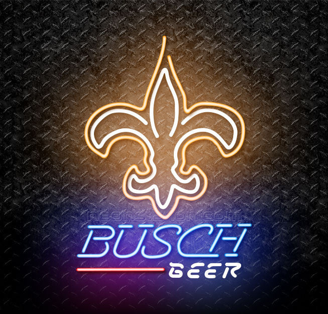 Busch Beer NFL New Orleans Saints Neon Sign