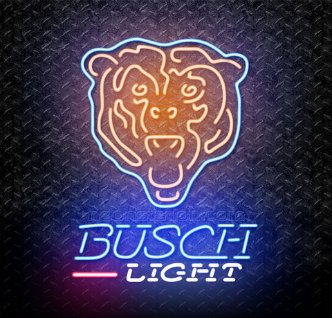 Busch Light NFL Chicago Bears Neon Sign