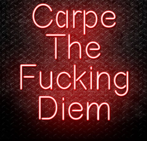 Carpe The Fucking Diem Neon Sign