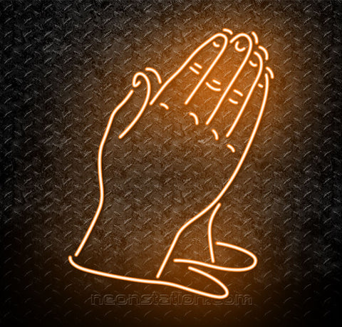 Child Prayer Hands Neon Sign