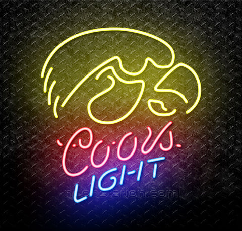 Coors Light NCAA University Of Iowa Neon Sign