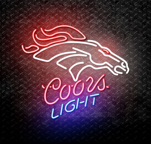 Coors Light NFL Denver Broncos Neon Sign