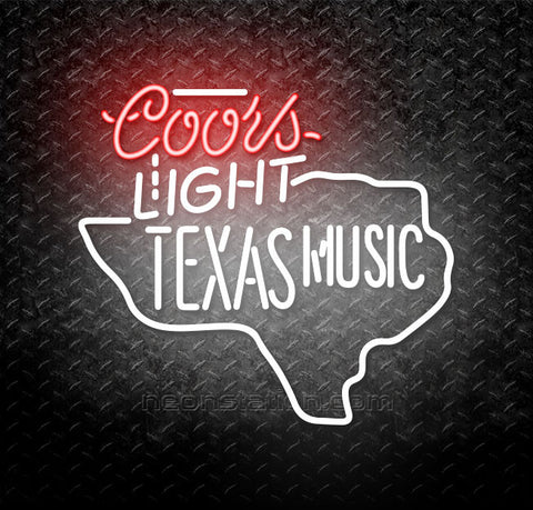 Coors Light Texas Music Star Neon Sign