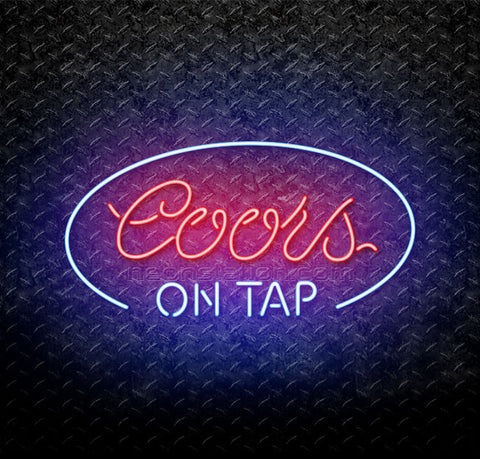 Coors On Tap Oval Neon Sign