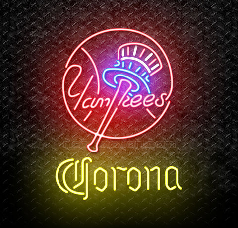 Corona MLB New York Yankees Neon Sign