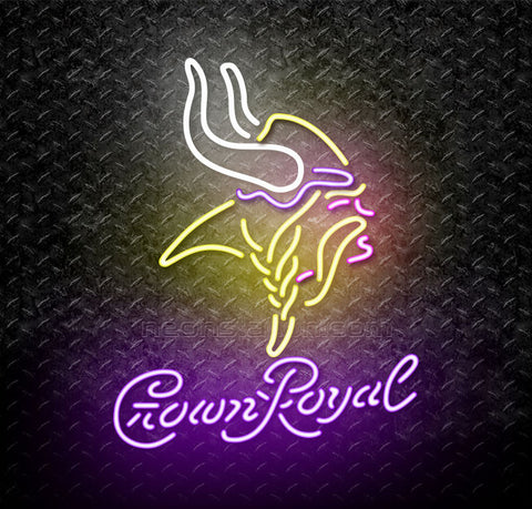 Crown Royal NFL Minnesota Vikings Neon Sign