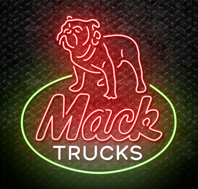 Incredible Mack Trucks Bulldog Neon Sign