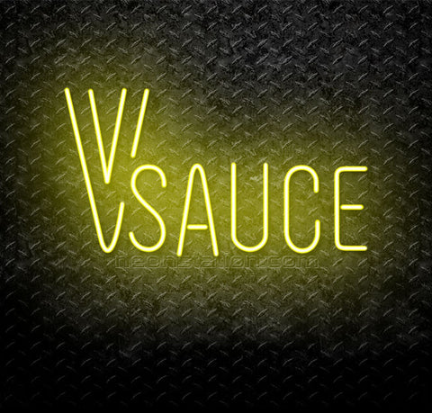 Vsauce Logo Neon Sign