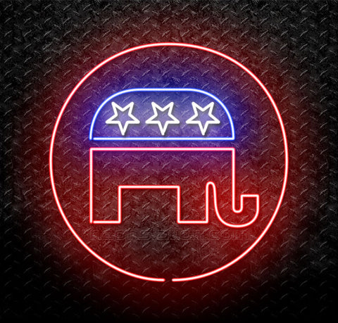 Donald Trump 2016 GOP Republican Elephant Logo Neon Sign