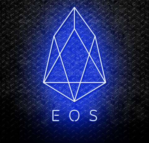 EOS Cryptocurrency Logo Neon Sign