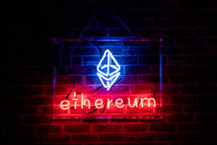 Ethereum Cryptocurrency Logo Neon Sign