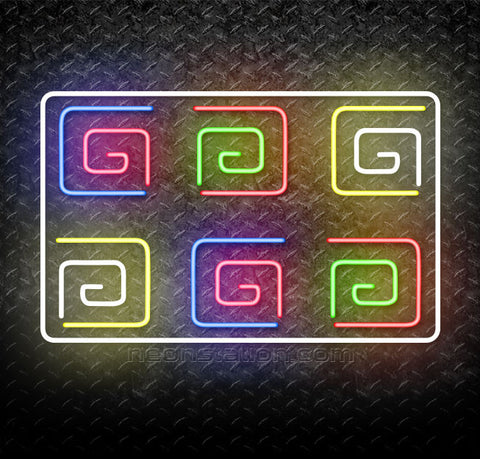Greek Key Band Neon Sign
