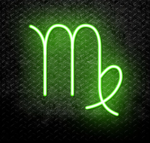 Virgo Zodiac Horoscope Astrology Logo Neon Sign