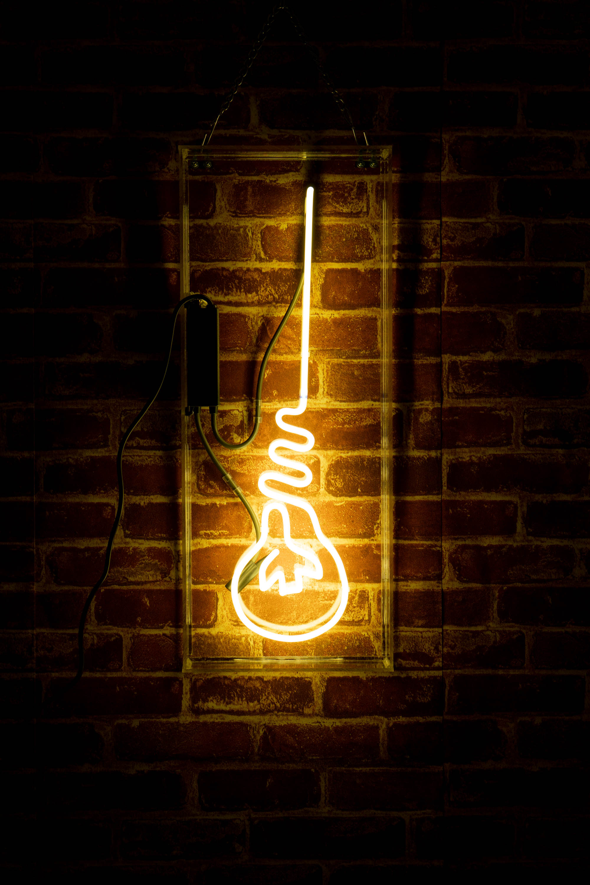 Hanging Light Bulb Neon Sign