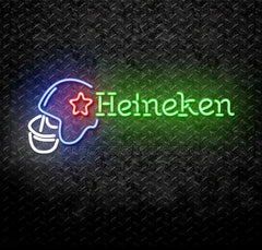 Heineken Football Helmet Neon Sign