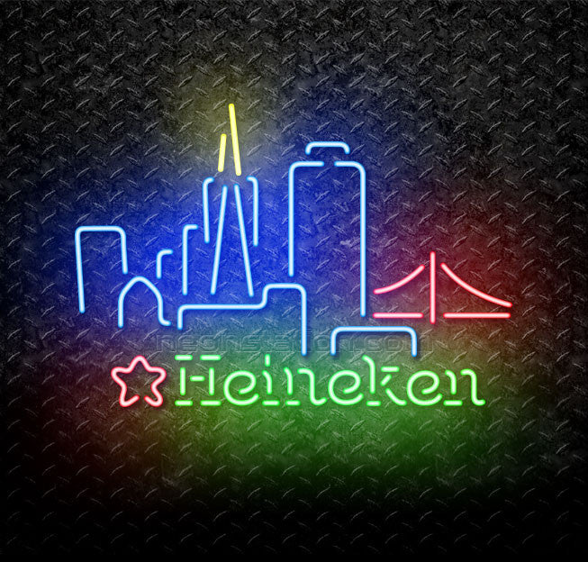 Heineken San Francisco Skyline Neon Sign