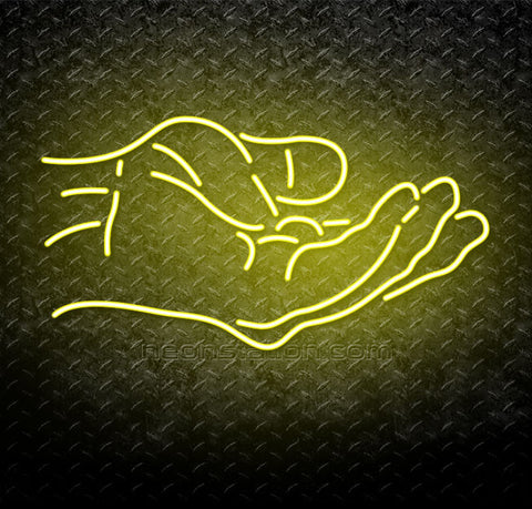 Helping Hands Neon Sign