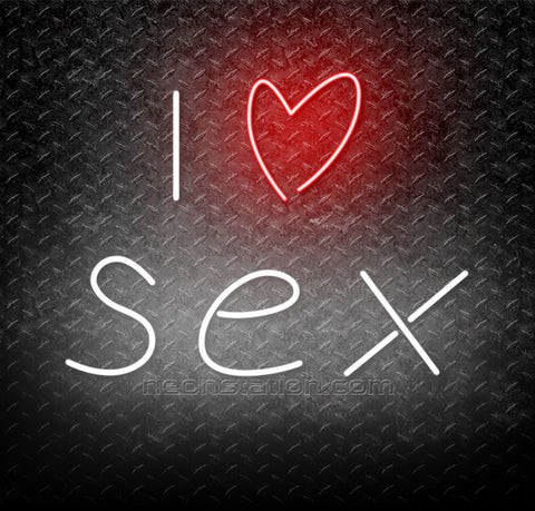 I Love Sex Neon Sign