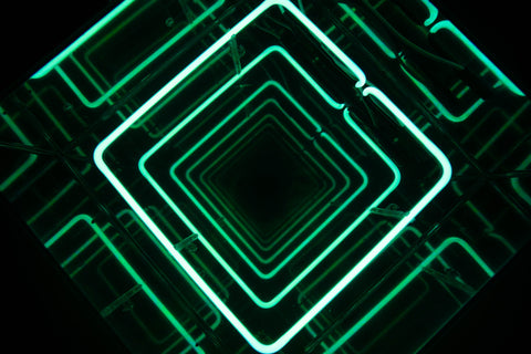Infinity Green Square Neon Sign