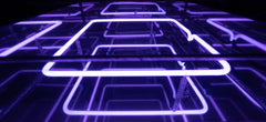 Infinity Purple Square Neon Sign