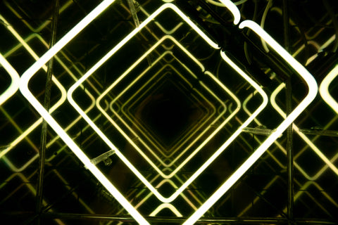 Infinity Yellow Square Neon Sign