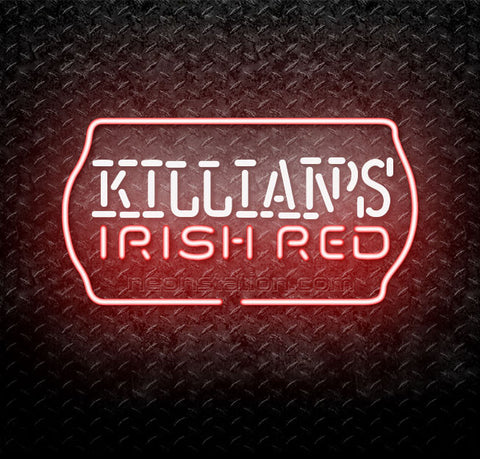 Killians Irish Red Text Neon Sign