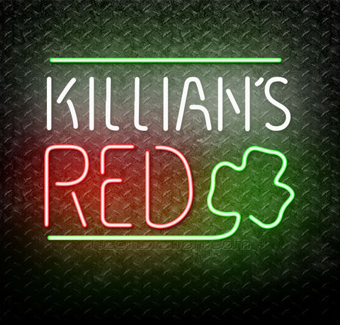 Killians Red Shamrock Neon Sign