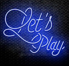 Let's Play Neon Sign