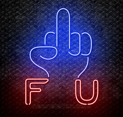 Middle Finger Fuck You Neon Sign