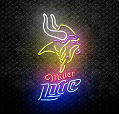 Miller Lite NFL Minnesota Vikings Neon Sign