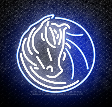 NBA Dallas Mavericks Logo Neon Sign