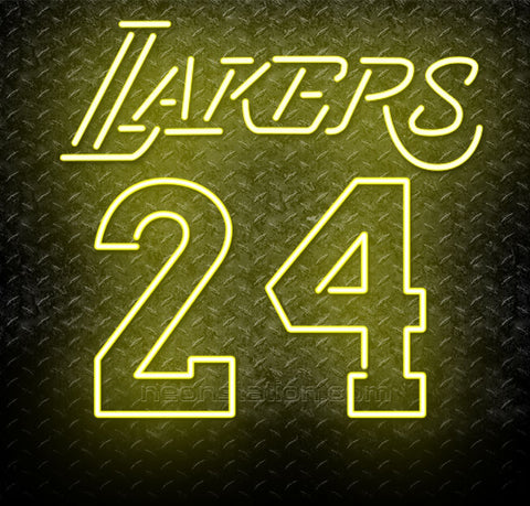NBA Los Angeles Lakers 24 Kobe Bryant Neon Sign