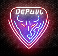 NCAA Depaul Blue Demons Logo Neon Sign
