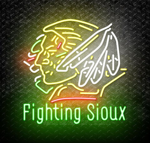 NCAA Fighting Sioux Neon Sign