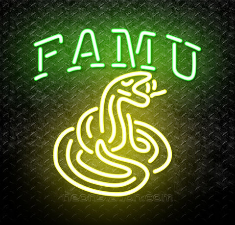NCAA Florida A And M Rattlers Logo Neon Sign