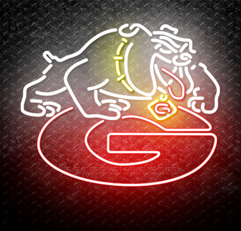 NCAA Georgia Bulldogs Uga Logo Neon Sign