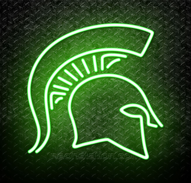 reputable site 270ca 297d3 NCAA Michigan State Spartans Logo Neon Sign