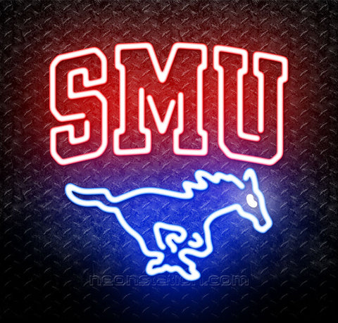 NCAA SMU Southern Methodist Mustangs Neon Sign