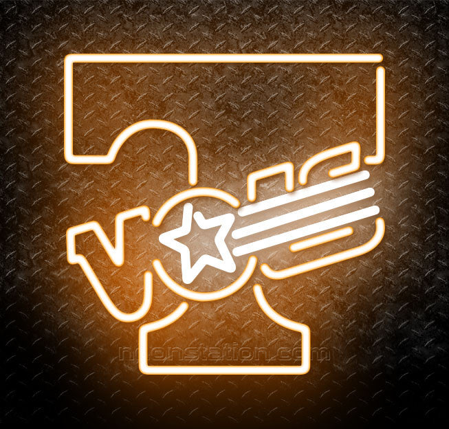 NCAA Tennessee Volunteers Logo Neon Sign