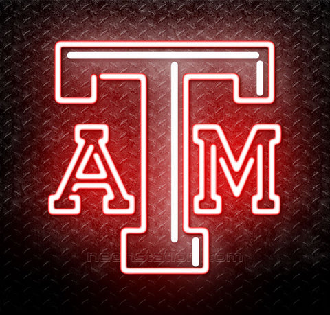 NCAA Texas A And M Aggies Logo Neon Sign