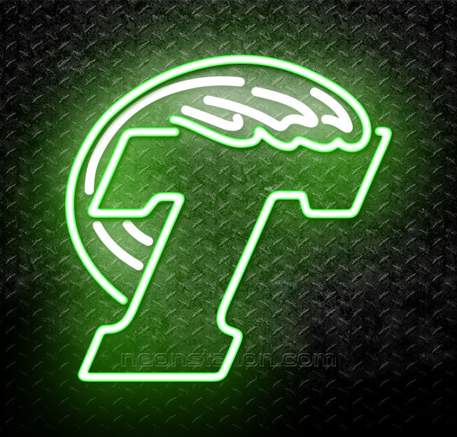 NCAA Tulane Green Logo Neon Sign