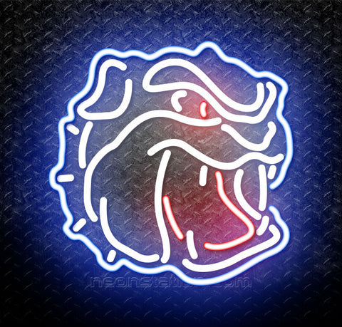 NCAA Unc Asheville Bulldogs Logo Neon Sign