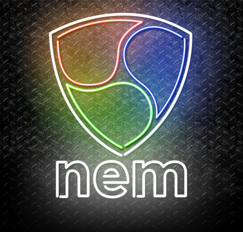 NEM Cryptocurrency Logo Neon Sign