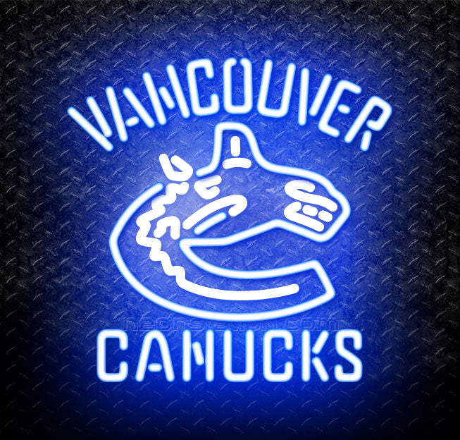 NHL Vancouver Canucks Logo Neon Sign