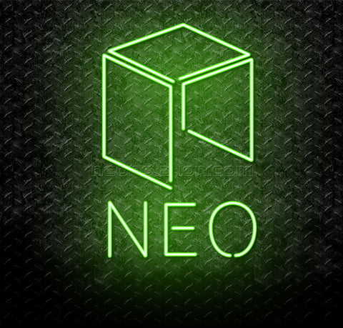 NEO Cryptocurrency Logo Neon Sign