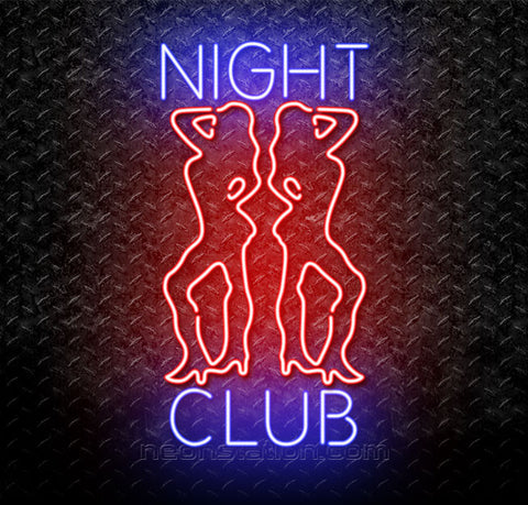 Night Club Girls Neon Sign
